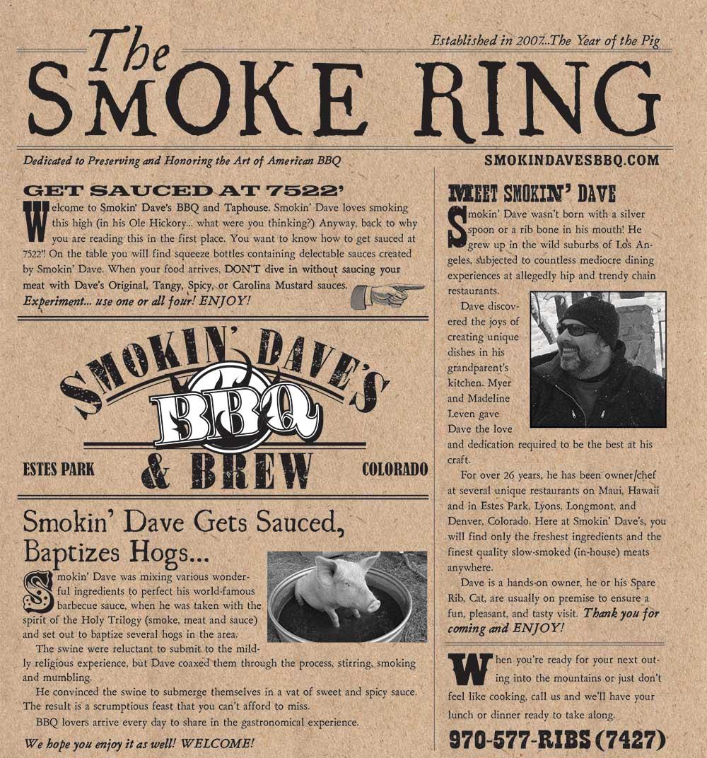 Restaurant Menu | Estes Park, CO | Smokin' Dave's BBQ & Brew